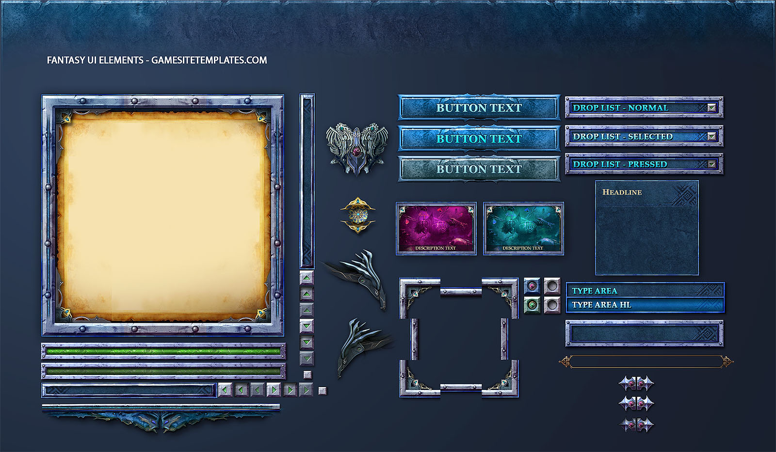 Information on the 2D Assets needed for the Dungeon Crawler