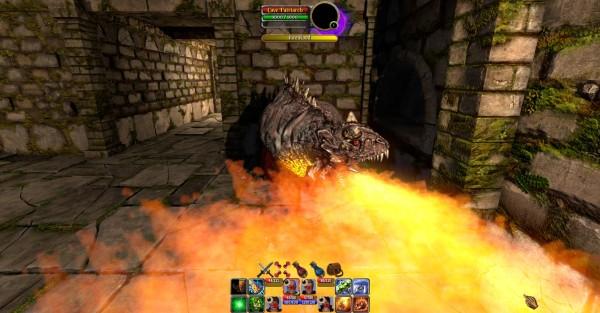 Cave Patriarch Casting Fire Breath
