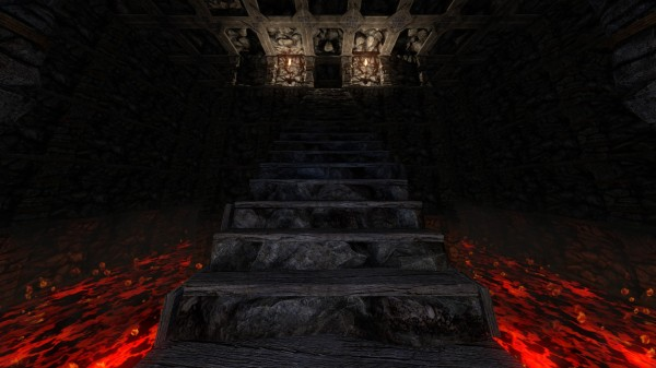 Stairs in Middle of Lava (screenshot by Logort)