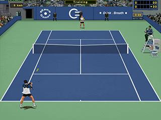 Blue-green cement - Tennis game - Tennis Elbow
