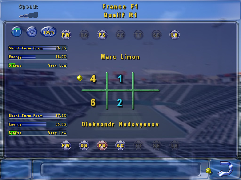 Tennis Manager Game